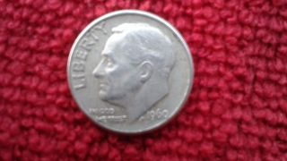 Extremely Fine 1960 - D Roosevelt Silver Dime 90 Ag You Grade It photo