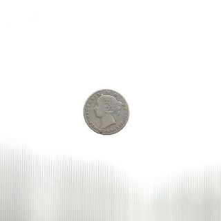 Ncoffin Canada Newfoundland Queen Victoria 1890 10 Cents.  925 Silver Coin photo