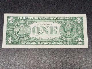 1957b $1 Dollar Crisp Blue Seal Us Silver Certificate Paper Money Note Bill photo