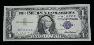 1957 $1 Silver Certificate Star