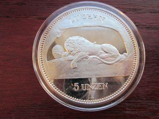 Switzerland 1988 Silver 5 Oz