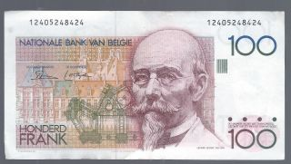 Belgium 100 Francs Nd 1978 - 1981 Pic 140a (sign Only On Face) photo