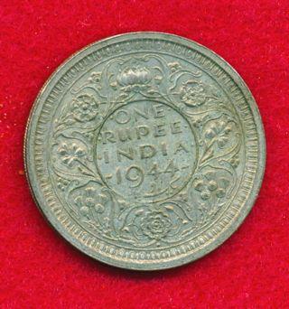 India - British 1944 Rupee.  1874 Ounces Of Silver photo