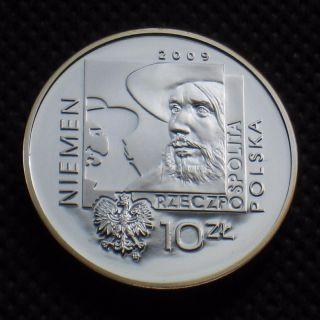 Silver Commemorative 10 Zloty Coin Of Poland - Polish Music Czeslaw Niemen Ag photo