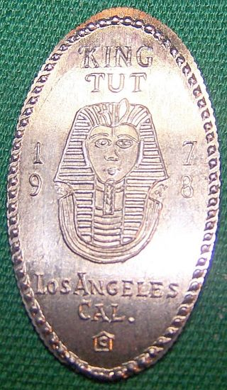 Unreported Vintage Elongated Dime - 1978 King Tut Exposition - Los Angeles,  Cal photo