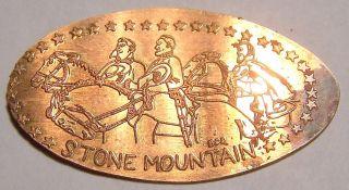 Sum - 5 Vintage Elongated Cent - Stone Mountain photo