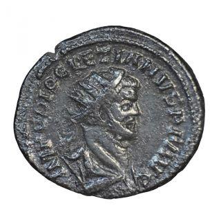 British Usurpers: Rare Carausius Bronze Antoninianus Minted London. photo