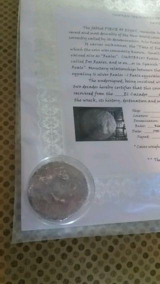 Shipwreck Silver Coin,  El Cazador,  1787 - 1783 photo