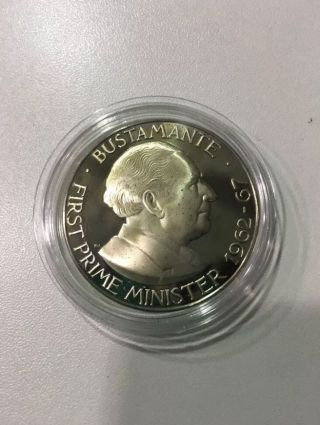 1972 $1 Dollar Coin Jamaica Proof Unc - Low Mintage: 17,  000 photo