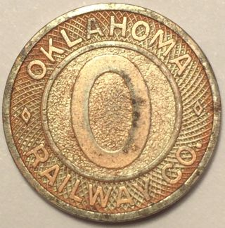 Oklahoma Railway Company Transit Token photo