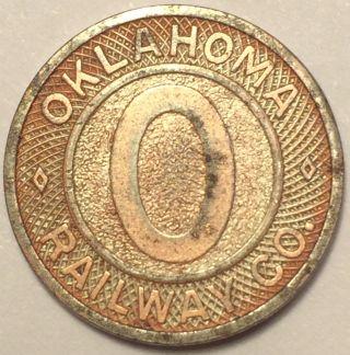 Oklahoma Railway Company Transit Token photo