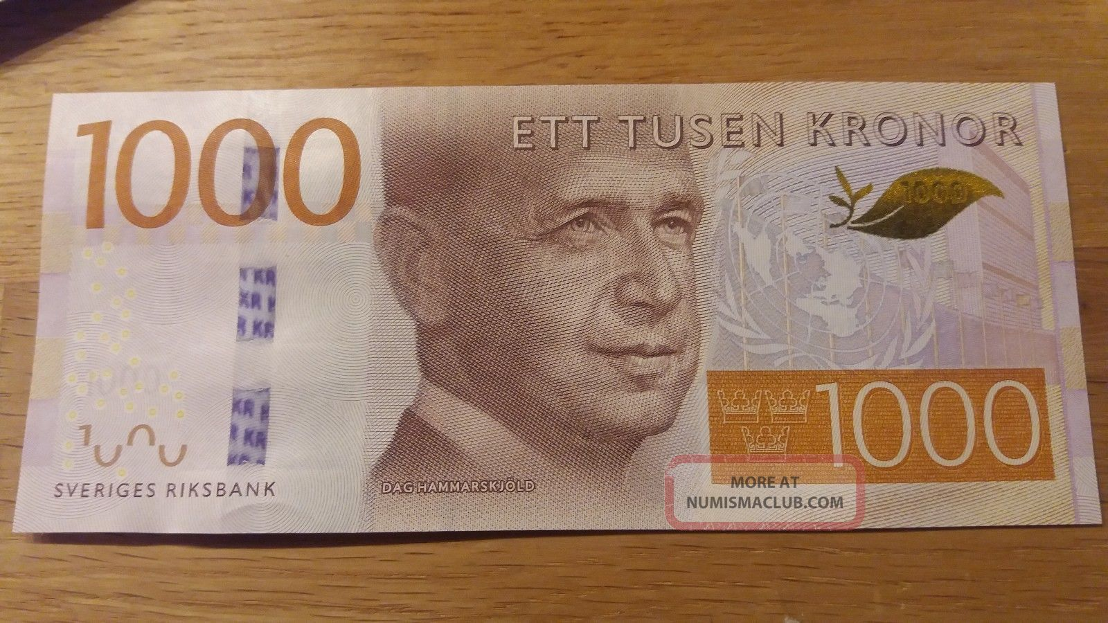 Sweden 1000 Kr 2015 Unc Un Secretary Dag Hammarskjold Europe photo