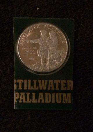 2004 1/10 Oz Palladium Johnson Matthey Lewis & Clark Round photo