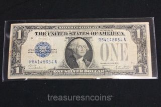 Silver Certificate 1928 A Funny Back $1 Dollar Note Blue Seal R54145684a photo