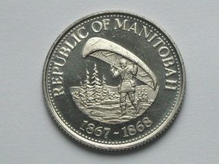 1979 Portage La Prairie Mb Trade Dollar Token/coin Voyageur Canoe & Indian Chief photo