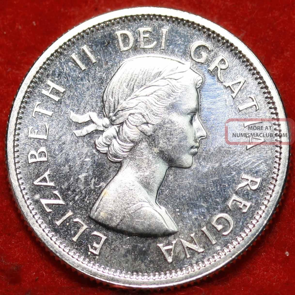 Uncirculated 1963 Canada 25 Cents Silver Foreign Coin S/h Twenty-Five Cents photo