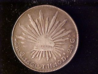 Cap & Rays 8 Reales 1860 Mo Th photo