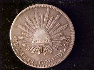 Cap & Rays 8 Reales 1844 Zs Om photo
