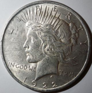 1922 Peace Silver Dollar photo