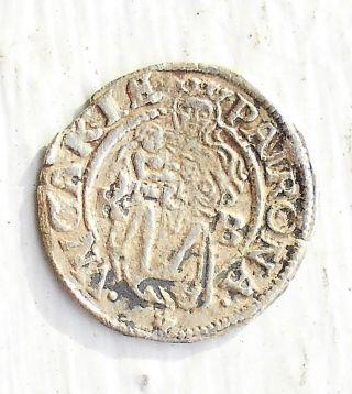 Silver Medieval 1538 - Kb Hungary Denar Ferdinand I Madonna & Child Msb 30 photo