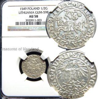 Ngc Au58 Certified 1549 Lithuania
