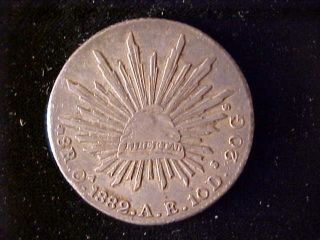 Cap & Rays 8 Reales 1882 Oa Ae photo
