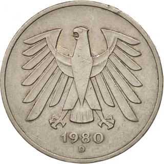 [ 502076] Germany - Federal Republic,  5 Mark,  1980,  Munich,  Au,  Km:140.  1 photo
