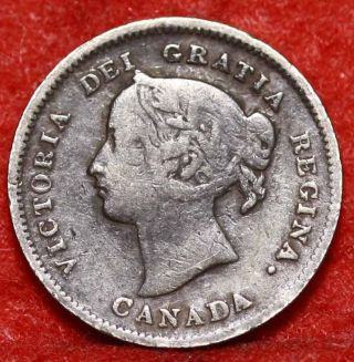 1899 Canada 5 Cents Silver Foreign Coin S/h photo