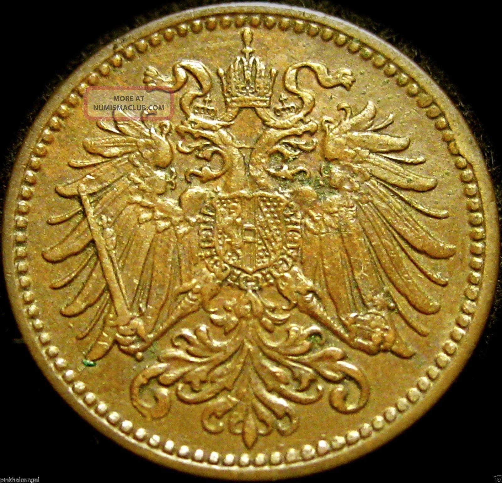 Austria - Austro - Hungarian Empire - Austrian 1912 Heller Coin Rare Europe photo