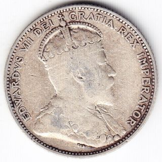 1910 Canada Silver Twenty - Five Cent Quarter Coin photo