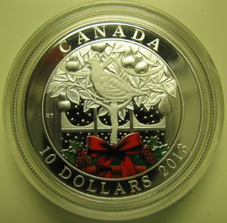 2013 Proof $10 Holiday - A Partridge In A Pear Tree Canada.  9999 Silver photo