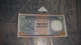 Hong Kong 1987 20 Dollars //// 806553 photo