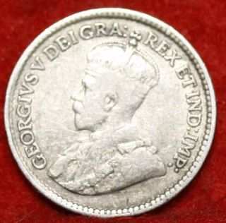 1918 Canada 5 Cents Silver Foreign Coin S/h photo