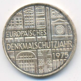 Germany European Protection Year Silver 5 Mark 1975 Unc photo