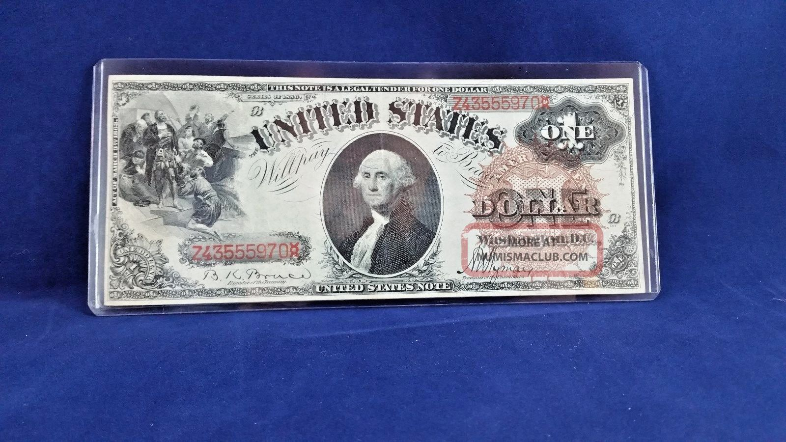 Rare 1880 $1 Legal Tender - Bruce \ Wyman Brown Seal Large Size Notes photo