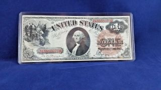 Rare 1880 $1 Legal Tender - Bruce \ Wyman Brown Seal photo