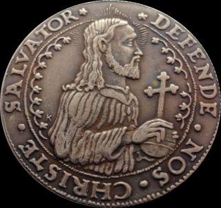Defende Nos Christe Salvator 1577 Thaler Poland Coin photo