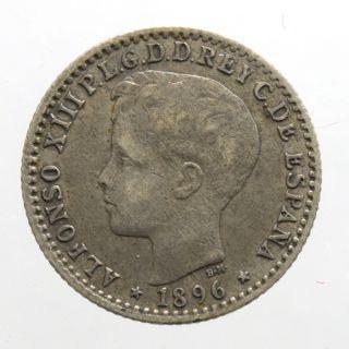 Puerto Rico 10 Centavos 1896 Km - 21 Xf - photo