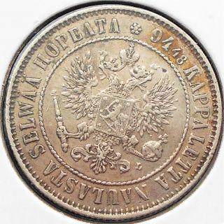 . 868 Silver 1892 - L Finland 1 Markka Km 3.  2 Nicholas Ii Double Eagle Pb 18 photo