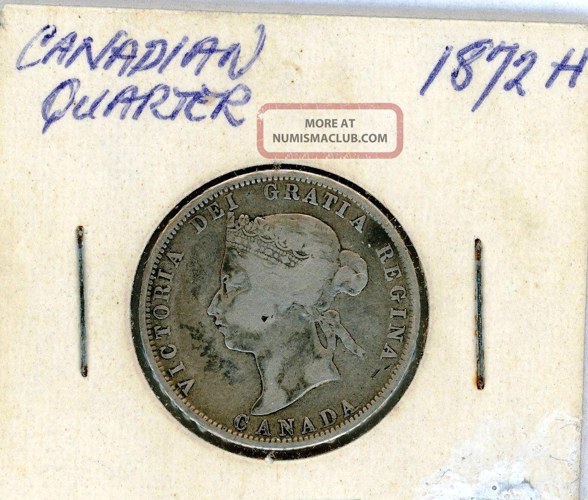 1872 - H 25c Canada 25 Cents G/vg Twenty-Five Cents photo