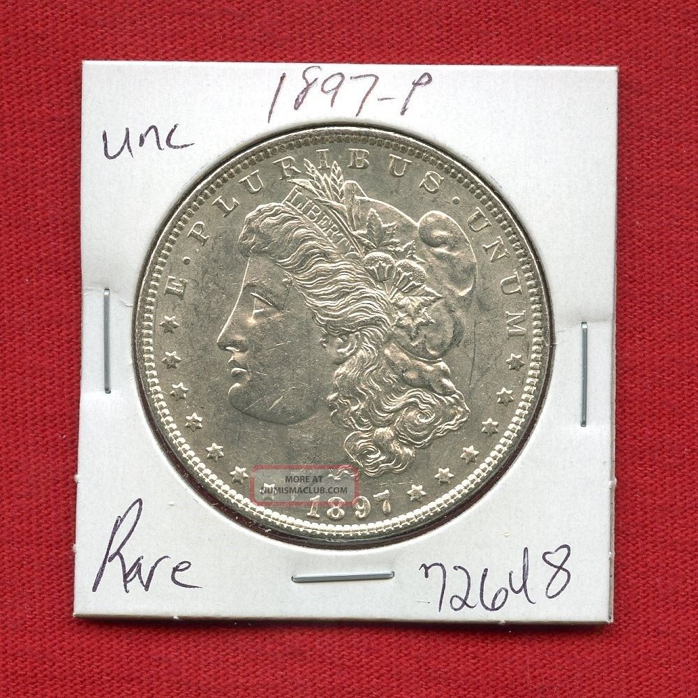 1897 Morgan Us Silver Dollar 72648 Brilliant Uncirculated Ms,  State Estate Dollars photo