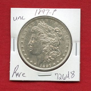 1897 Morgan Us Silver Dollar 72648 Brilliant Uncirculated Ms,  State Estate photo