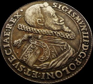 Sigis Iii Rex Sigmuntus 1614 Thaler Poland Coin photo