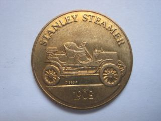 Stanley Steamer 1908 Antique Car Token Coin Medal photo