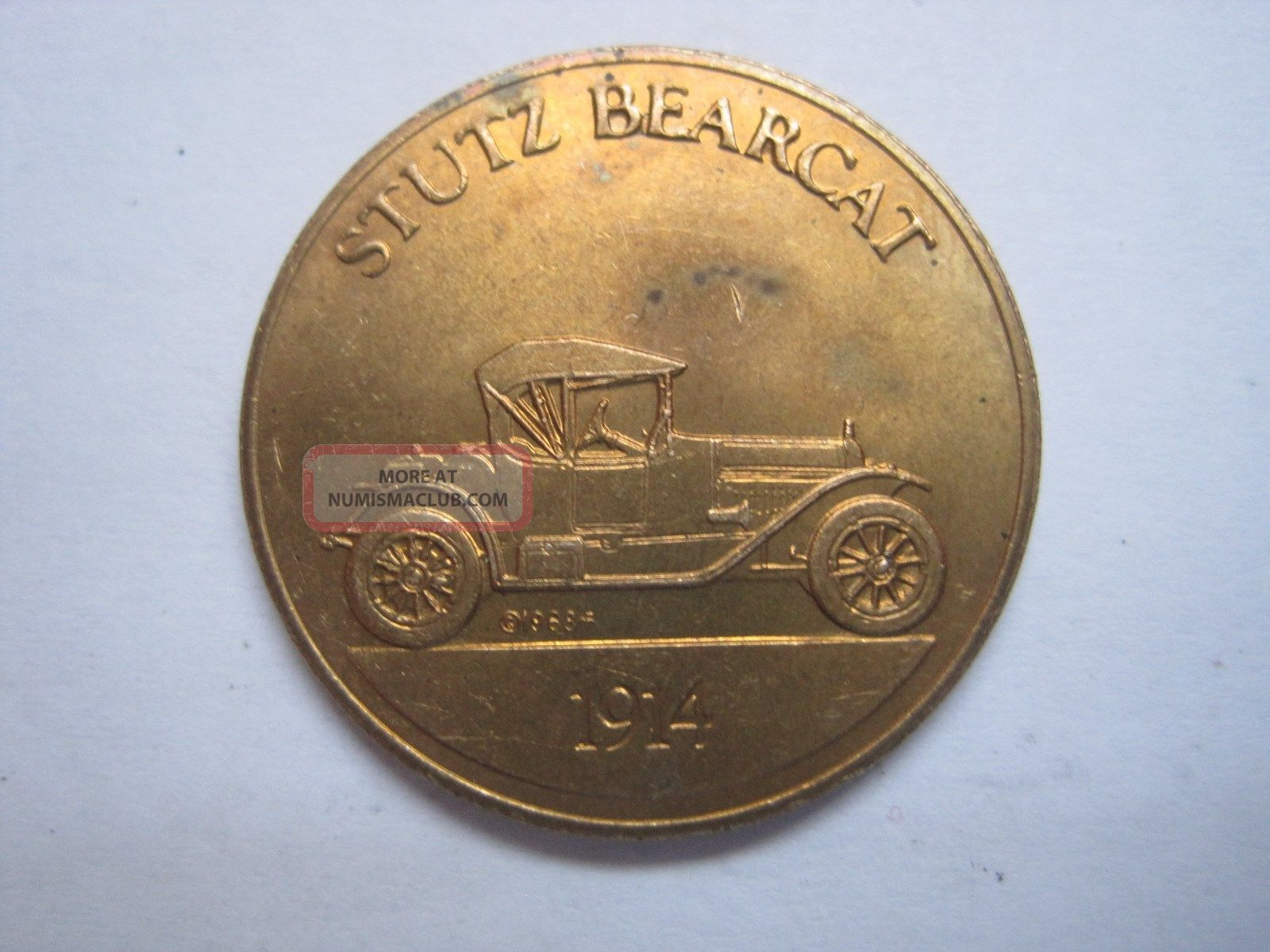 Stutz Bearcat 1914 Antique Car Token Coin Medal Exonumia photo