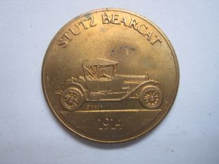 Stutz Bearcat 1914 Antique Car Token Coin Medal photo
