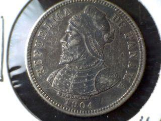 1904 Panama 10 Centesimos De Balboa photo