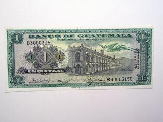 Series 1970 Banco De Guatemala 1 Quetzal photo