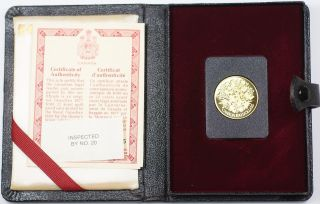 1977 Canada Queen Elizabeth Ii Silver Jubilee $100 Gold Proof Coin As Issued Ww photo