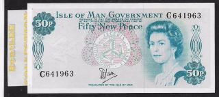 [bl] Isle Of Man 50 Pence,  Nd 1979,  P33a,  Unc,  Qeii photo